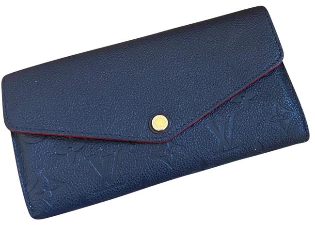 Navy blue leather wallet