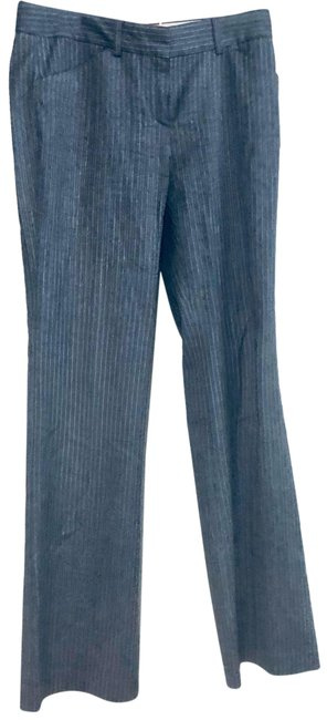 Theory Gray Pin Stripe Wool Pants Size 6 (S, 28) Theory Gray Pin Stripe Wool Pants Size 6 (S, 28) Image 1