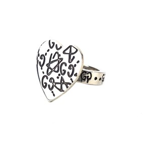 Gucci NEW GUCCI 511853 Sterling Silver Anger Forest Eagle Head Ring, 6US