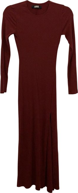 Item - Maroon Sleeve Long Casual Maxi Dress Size 2 (XS)