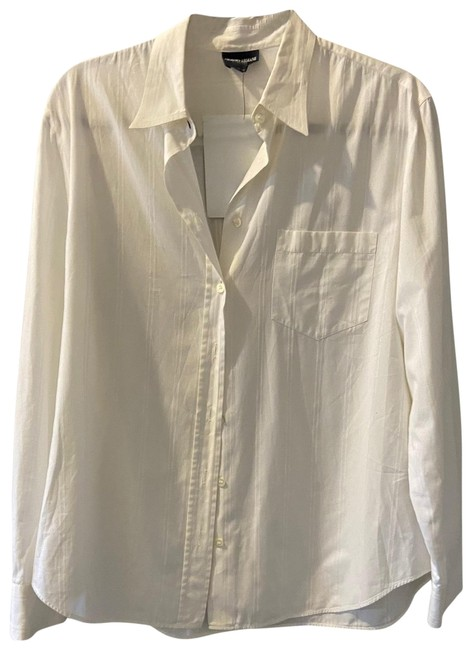 Item - White 214 Button-down Top Size 6 (S)