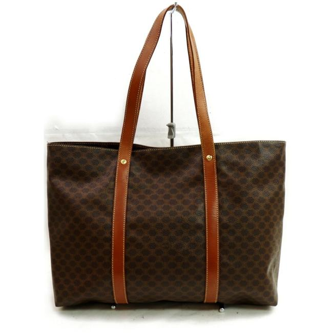 Item - Macadam Shopper Monogram Tote 872644 Brown Coated Canvas Shoulder Bag