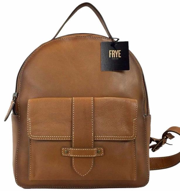 Item - Fashion Purses Tan Leather Backpack