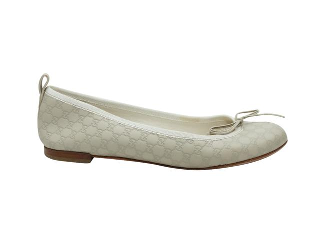 Item - White ssima Leather Ballet Flats Size US 6 Regular (M, B)