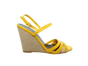 Burberry 200-500 Espadrille Heeled Sandals Sandals Yellow Wedges