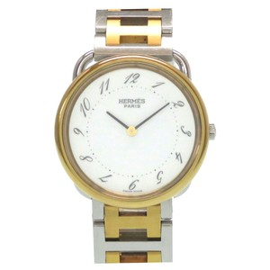 Hermes HERMES Arceau Gold Plated Steel Quartz Mens Watch