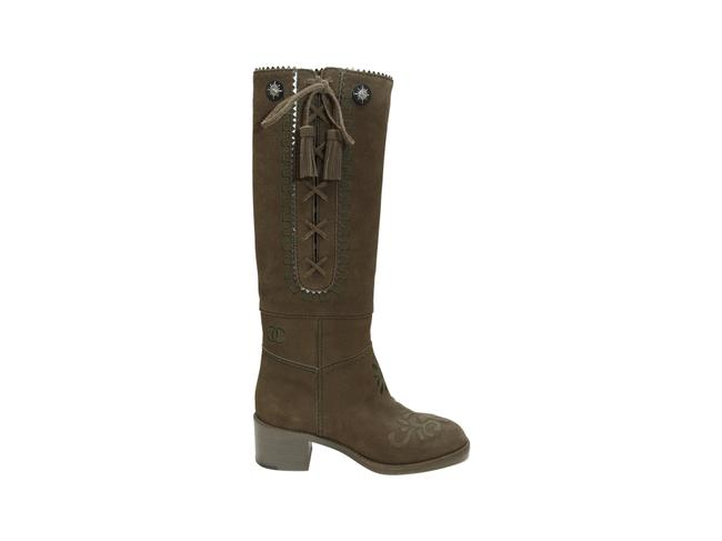 Item - Olive Green Pre-fall 2015 Suede Boots/Booties Size US 8.5 Regular (M, B)