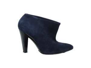 Balenciaga Ankle Ankle Suede Navy Boots