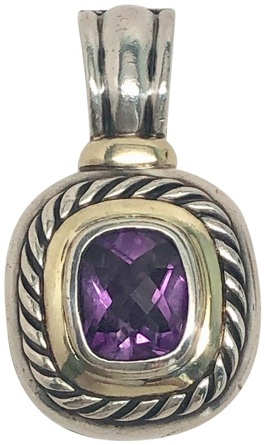 David Yurman 925/14k Amethyst Albion Pendant Enhancer David Yurman 925/14k Amethyst Albion Pendant Enhancer Image 1