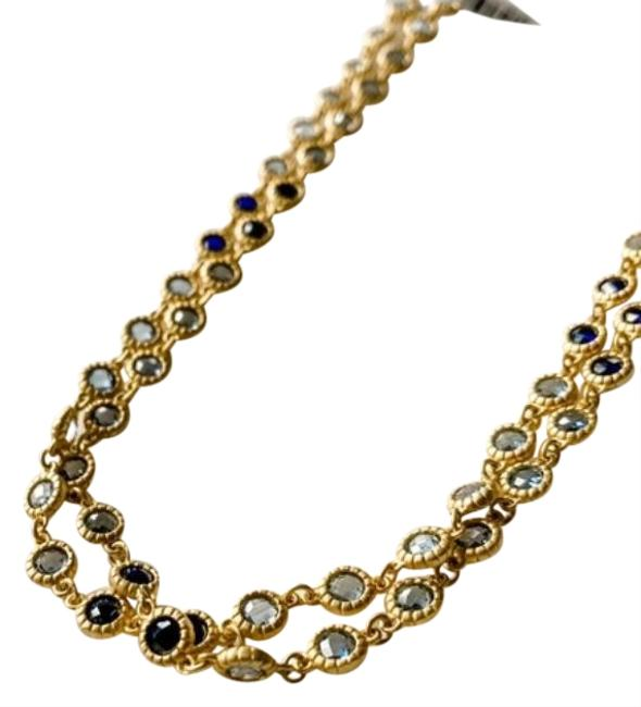 """Freida Rothman Gold Imperial Blue 36"""" Necklace Freida Rothman Gold Imperial Blue 36"""" Necklace Image 1"""