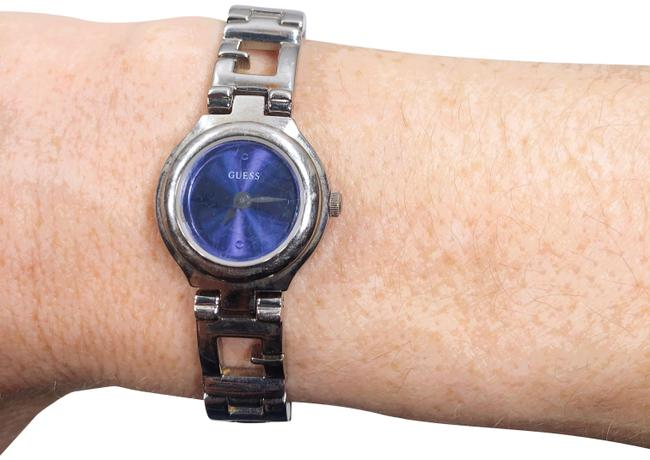 Guess Silver Womens Blue Face Analog Band Bracelet Watch Guess Silver Womens Blue Face Analog Band Bracelet Watch Image 1