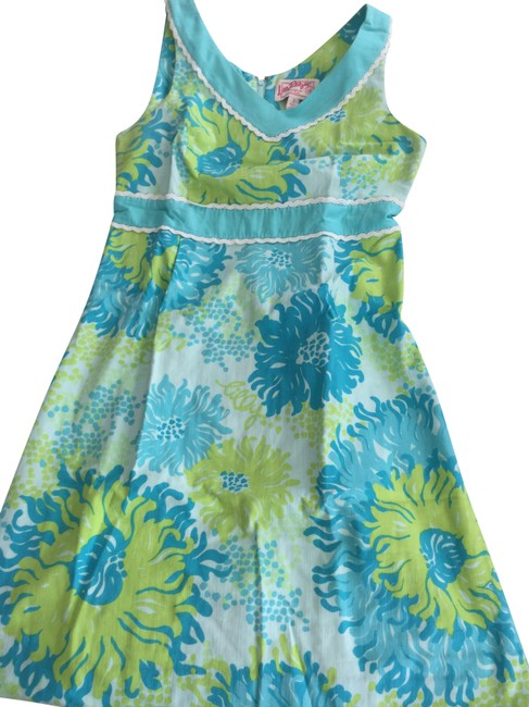 Preload https://img-static.tradesy.com/item/27218896/lilly-pulitzer-blue-htf-and-green-mid-length-formal-dress-size-4-s-0-1-650-650.jpg