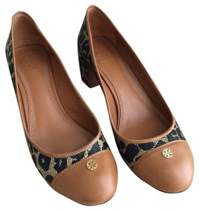 Tory Burch Ethel Mid-heel Leather Leopard print Pumps