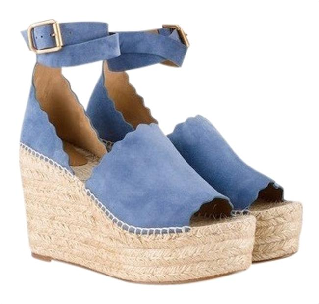 Chloé Blue D'orsey Wedges Size EU 40 (Approx. US 10) Regular (M, B) Chloé Blue D'orsey Wedges Size EU 40 (Approx. US 10) Regular (M, B) Image 1