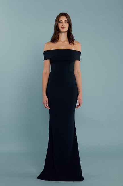 Katie May Navy Stretchcrepe97% Legacy Modern Bridesmaid/Mob Dress Size 8 (M) Katie May Navy Stretchcrepe97% Legacy Modern Bridesmaid/Mob Dress Size 8 (M) Image 1