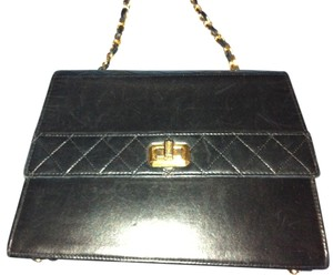 Chanel Lambskin Trapeze Cross Body Bag