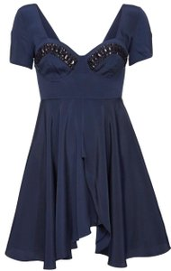 Christopher Kane Topshop Navy Bust Cup Dress