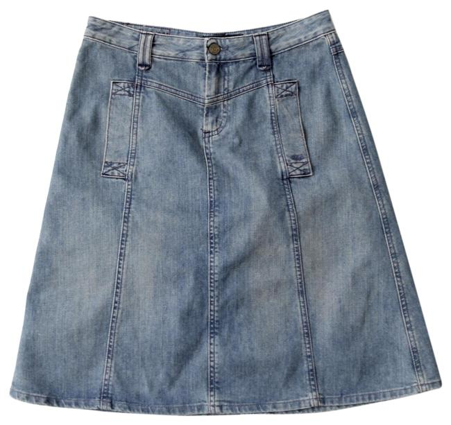 Marc by Marc Jacobs Blue A-line Denim Skirt Size 4 (S, 27) Marc by Marc Jacobs Blue A-line Denim Skirt Size 4 (S, 27) Image 1
