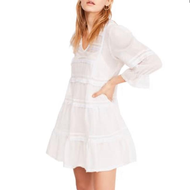 Item - Ivory Berlin Lace-trim Babydoll In Short Casual Dress Size 10 (M)