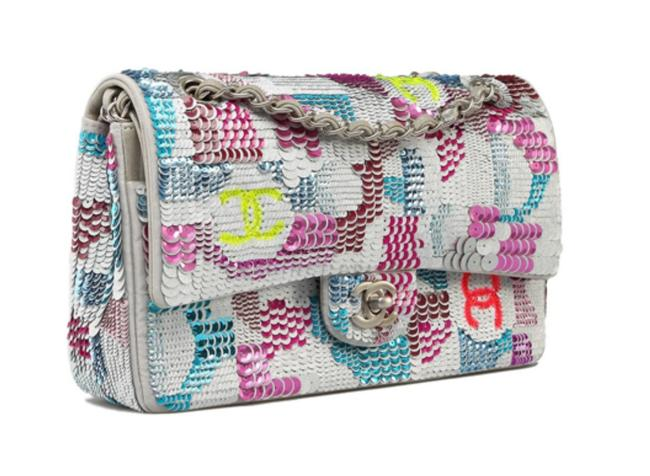 Item - Classic Flap Limited Edition Sequin Embroidered 2014 Multi Color Leather Shoulder Bag