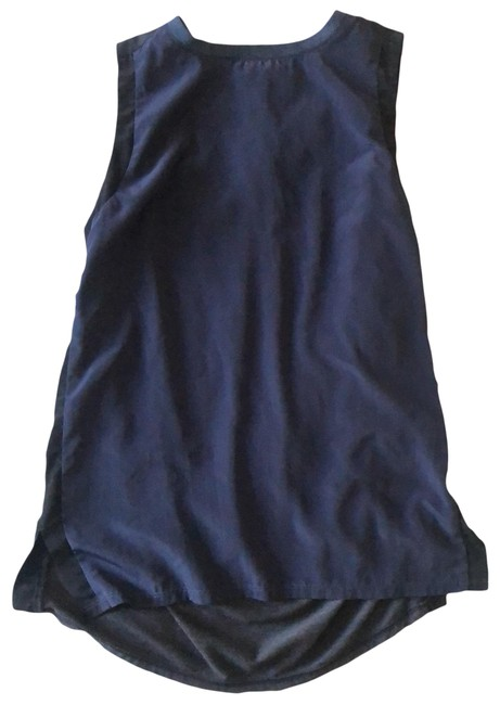 Item - Blue Charcoal and Black Contrasting Fabrics Activewear Top Size 00 (XXS)