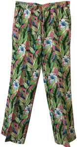 Tommy Bahama Wide Leg Pants Floral (pink, green and blue)