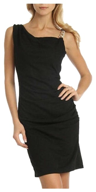 Item - Black XS Shirred In Night Out Dress Size 0 (XS)