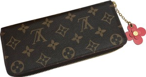 Louis Vuitton Clemence Wallet with Flower charm comes with box and dustbag