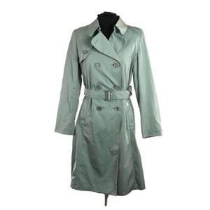 Cinzia Rocca Italianfashion Raincoat Skyblue Trench Coat