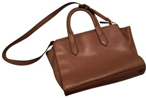 Fossil Shoulder Strap Leather Tote in tan
