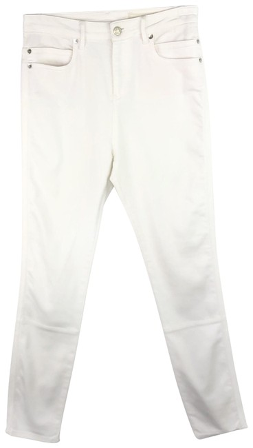Item - White Light Wash Pants Stretch Solid Skinny Jeans Size 6 (S, 28)