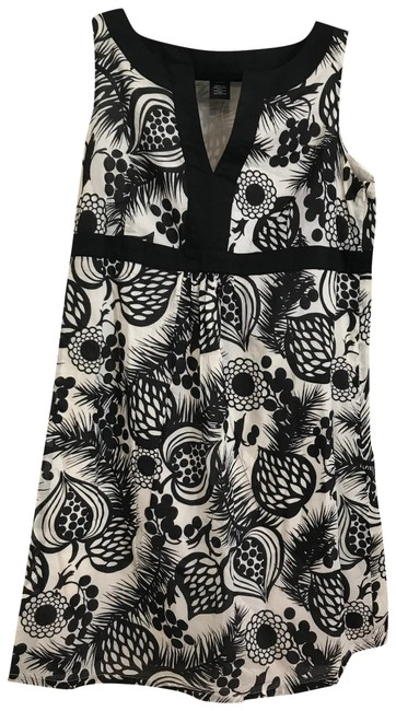 Item - Blk & White Maternity Soft + Comfy Summer Short Casual Dress Size 8 (M)