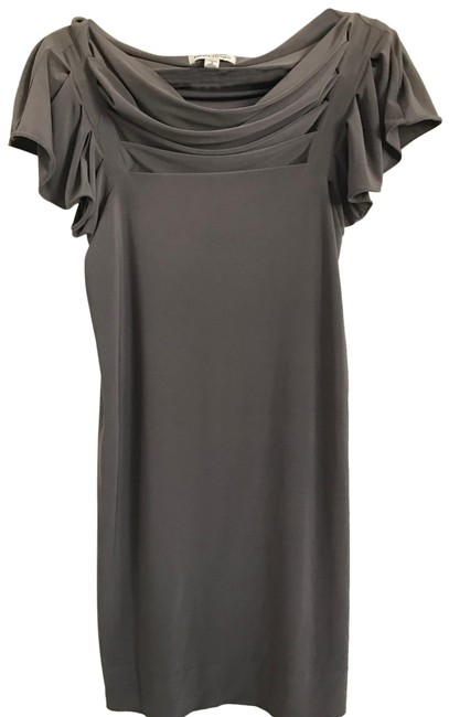 Item - Taupe/Mauve/Grey Versatile Short Cocktail Dress Size 4 (S)