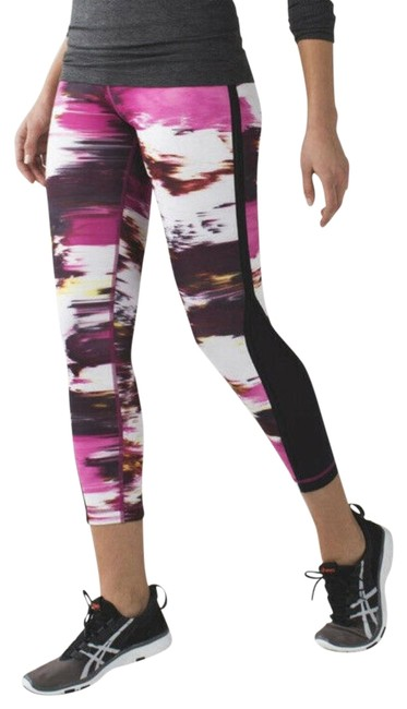 Item - Pink and Black Tight *full-on Luxtreme Pigment Wind Berry Rumble Multi Activewear Bottoms Size 4 (S, 27)