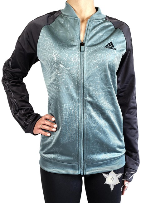 Item - Green (Green/Carbon) Embossed Track Womens (Nwt) Activewear Outerwear Size 8 (M)