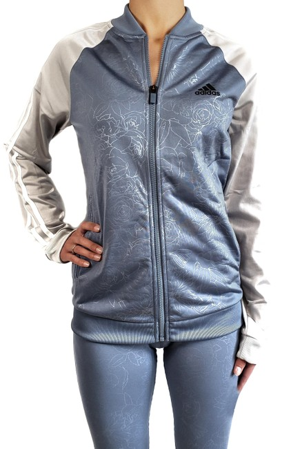 Item - Raw Steel/Gray Embossed Track Womens (Nwt) Activewear Outerwear Size 12 (L)