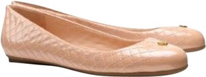 Tory Burch Kent Quilted Patent Leather beige Flats