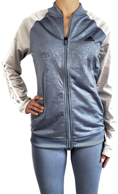 Item - Raw Steel/Gray Embossed Track Womens (Nwt) Activewear Outerwear Size 16 (XL, Plus 0x)