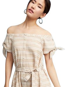 Corey Lynn Calter short dress Petite Striped Off The Shoulder Tie Sleeve on Tradesy