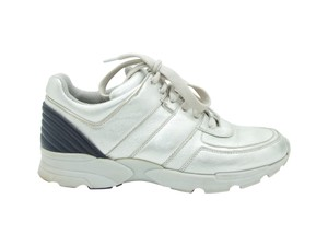 Chanel 500-1000 Sneakers Size-7-5 Silver Athletic