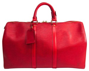 Louis Vuitton Satchel in Castilian red