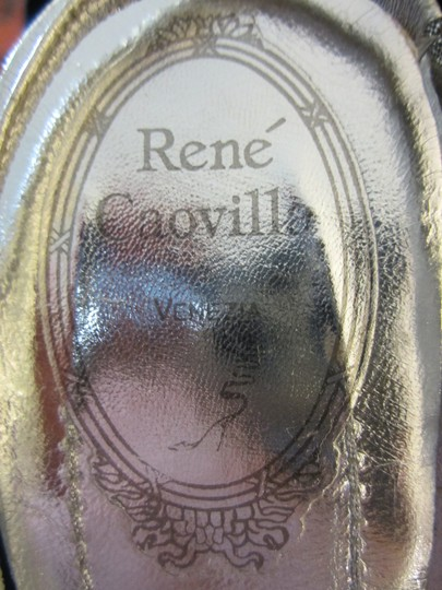 Rene Caovilla Silver Slingbacks Crystal Handmade Satin Formal Size US 10 Regular (M, B)
