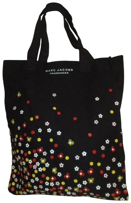Marc Jacobs Canvas Shopper Black Multi Cotton Tote Marc Jacobs Canvas Shopper Black Multi Cotton Tote Image 1