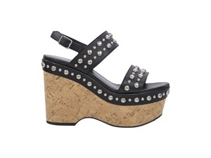 Saint Laurent 200-500 Candy Cork Black Wedges