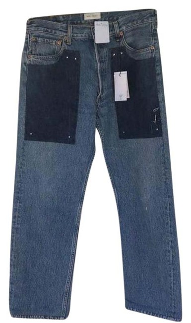 Item - Blue Medium Wash Malibu Contast Relaxed Fit Jeans Size 32 (8, M)