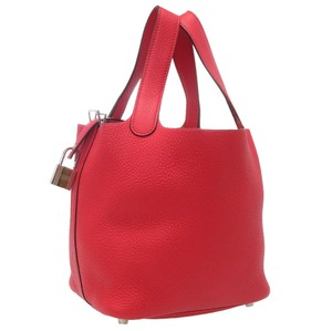 Hermes Satchel in Bougainvillier / Red color