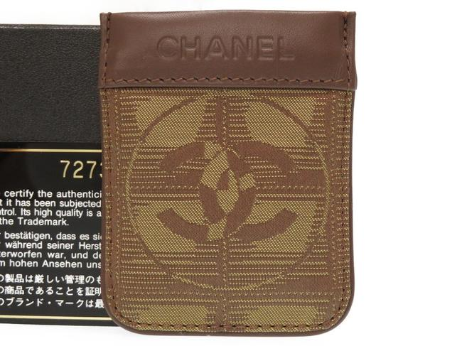 Item - Khaki / Khaki Brown New Travel Line Multi Case Coin Nylon Leather 0531chanel Wallet