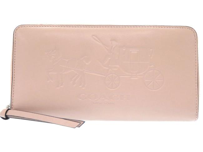 Item - Pink Round Zipper Leather 0298coach Wallet