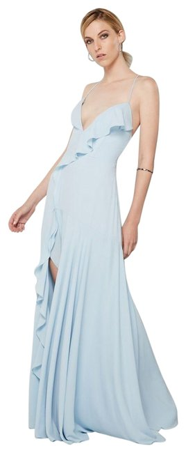 Fame and Partners Blue Callais Long Formal Dress Size 10 (M) Fame and Partners Blue Callais Long Formal Dress Size 10 (M) Image 1