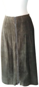 Jenne Maag Suede Skirt forest green